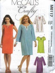 McCall�s Sewing Pattern 6117 Womans Plus Size 18W-24W Pullover A-Line Crafty Dress Caftan Kurda