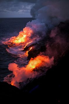Lava Flow ~ Volcano National Park, Hawaii