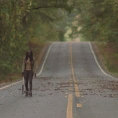Michonne, thanks Merle you could have dropped me off closer to the prison sheesh.