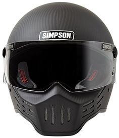 Simpson M30 Bandit DOT Satin Carbon Fiber Motorcycle Helmet -Large