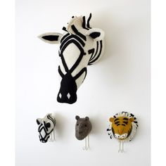 Fiona Walker Felt Zebra Head