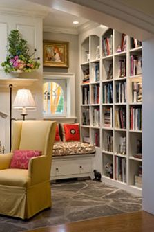 I don't have alot of books but I would start reading in here!