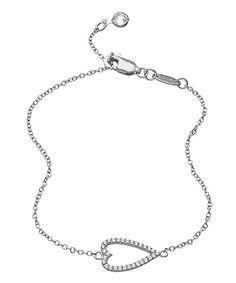 Lafonn Sideways Heart Bracelet #maxandchloe