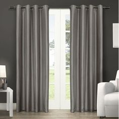 """Amalgamated Textiles Exclusive Home Curtain Panels Size: 54"""" W x 84"""" L, Color: Silver Could"""