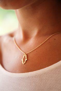 "Hand ""Hamsa"" Necklace By Junam Jewelry,  http://www.etsy.com/listing/65362174/gold-14-karat-hamsa-necklace-plated  http://www.etsy.com/shop/JunamJewelry"