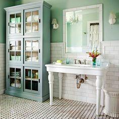 Badmöbel im Landhausstil für eine ländliche Stimmung in Ihrem Bad