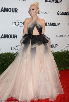 All eyes on her: The singer was truly the belle of the ball in the unusual Marchesa gown...
