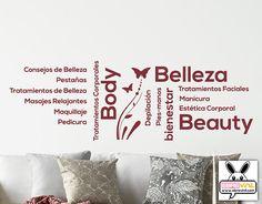 vinilos decorativos centros de belleza, centros de estética, peluquerías