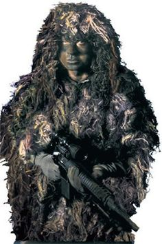 Bushrag - The Complete Ghillie Suit Kit Everyone needs to disappear once in awhile and with the Bushrag The Complete Ghillie Suit Kit by Rothco Combat Gear, you can makes it happen. Used by hunters, m Sniper Gear, Airsoft Gear, Tactical Suit, Tactical Armor, Ghillie Suit, Hunting Supplies, Combat Gear, Tac Gear, Bow Hunting