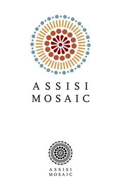 I like this concept - can be used in colour or B&W.  (Assisi Mosaic - Logo Design by Fulvio Bisca, via Behance)