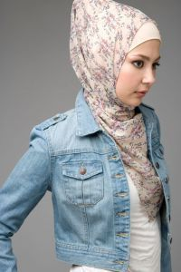 Festive Floral Print Hijab