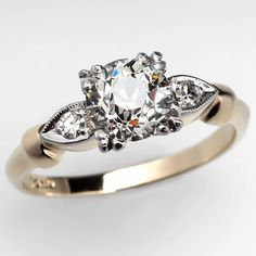 This ring is the first one I've seen that's made my heart skip and a lump rise in my throat...Gerardo, this pin is for you. :) 1 Carat Old European Cut Diamond Antique Engagement Ring
