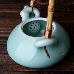 精品特价龙泉青瓷手工弟窑功夫茶杯茶具提梁壶茶壶茶道配件壶包邮-淘宝网