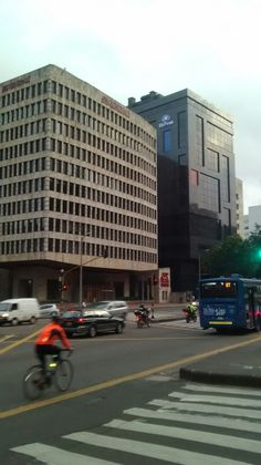 Carrera séptima con calle 72. Zona financiera, avenida Chile, en Bogotá.