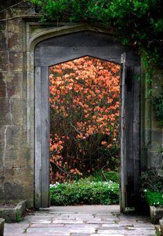 Garden Design One: Nymans Garden Gate, Sussex Garden Entrance, Entrance Doors, Garden Gates, Doorway, Garden Art, Garden Design, Garden Ideas, Autumn Garden, Door Knockers
