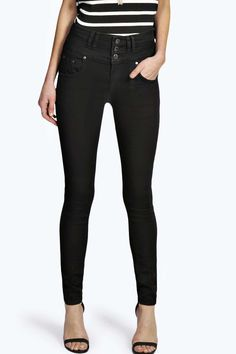 Sandy Super High Waisted Skinny Jeans - High Waisted Jeans - Jeans - Clothing