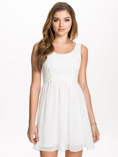 Gardenia Short Dress - Dry Lake - Offwhite - Party Dresses - Clothing -  Women - aaacd443ea0d5