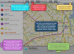 Es la primer aplicación para iPad sobre el Subte de Buenos Aires. . Imagina ver la red del metro de Buenos Aires sobre los mapas de Google. Al hacer zoom aparecen los detalles: los nombres de calle...  (LINE B)