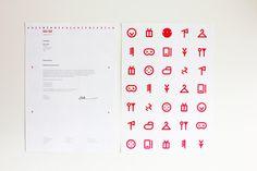 Rebranding by Yong Cheng .Low, via Behance Daiso, Pictogram, School Stuff, Behance, Japanese, Stickers, Design, Japanese Language