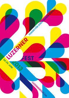2013 luzerner fest poster by erich brechbühl