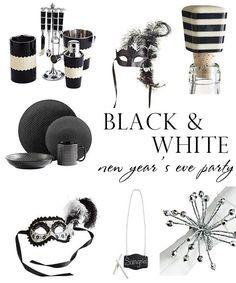 Black & White New Year's Eve Party Inspiration ~ loving the stripe wine bottle cork