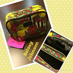 BETSEY Johnson NWT make up bag Just in NWT BETSEY Johnson make up travel bag. Double zip one. Sectioned off into 2 areas.  Betsey Johnson Bags Cosmetic Bags & Cases