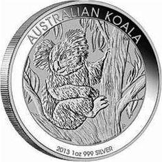 BU 2013 1//2 oz Australia Silver Koala in Mint Capsule