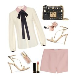 """Untitled #1081"" by anilia ❤ liked on Polyvore featuring Roksanda, Valentino, Gianvito Rossi, Gucci and Elizabeth Arden"