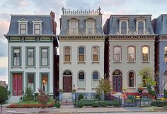 Lafayette Square Neighborhood, in Saint Louis, Missouri, USA - houses by msab. Missouri, Eindhoven, Architectural Design House Plans, Architecture Design, Orangery Extension, Lafayette Square, Usa House, Mansard Roof, Fibreglass Roof