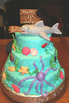 for her love of sharks...