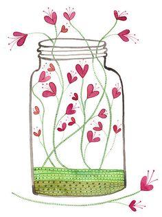 Jar of Love No. 5 by Golly Bard