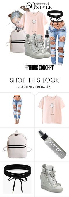 """""""Outdoor Concert"""" by olivia597 ❤ liked on Polyvore featuring Boohoo, Giuseppe Zanotti, 60secondstyle and outdoorconcerts"""