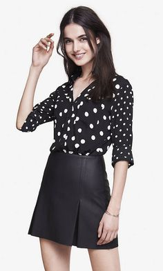 This polka dot portofino shirt lends a little fun to office styles & elegance to casual looks.