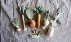 Pretend play Vegetables Toys Play Food Set by MamumaBird on Etsy