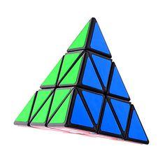 Shengshou®+Magic+Cube+Pyraminx+/+Alien+Smooth+Speed+Cube+Black+Plastic+Toys+–+USD+$+8.09