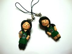 too cute!  special commission.  starbucks barista cp charms by Aquamaze