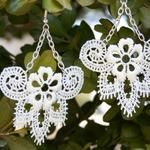 Anthro Inspired Lace Earrings  dIYwith lots of sparkle for wedding