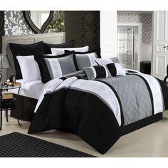 8 Piece Comforter Set (King Black) - Bedding Ideas Black Comforter, Queen Comforter Sets, Bedding Sets, Comforter Cover, Marble Comforter, Duvet Covers, Floral Comforter, Twin Comforter, Grey Bedding