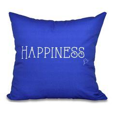 Found it at Wayfair - Olevia Happiness Throw Pillow