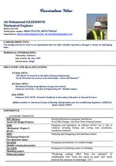 Mechanical Engineering Resume Mechanical Engineer Resume For Fresher ~ Resume Formats  Resume