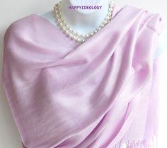 Light Purple Pashmina Scarf.Paisley Purple by HappyIdeology