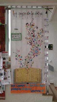 Mural realizado para celebrar el Día del Libro 2018. Love Book, Classroom Decor, Ideas Para, Babyshower, How To Plan, Kid Art, Carnival, Frases, Reading Room