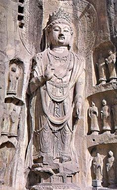 Statue at Yungang Cave ...  dates back to the 5th century