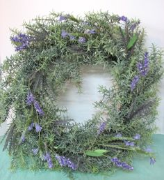 I love this rosemary wreath for the front door.