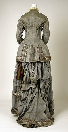 Dress Design House: Mon. Vignon  Date: ca. 1880 Culture: French Medium: cotton Accession Number: C.I.69.33.13a, b