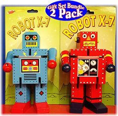 Robot X-7 Bendable Wooden Robots Red & Blue Gift Set Bundle - 2 Pack The Original Toy Company http://www.amazon.com/dp/B00QJI0CQO/ref=cm_sw_r_pi_dp_LdLDwb1JF4TAM
