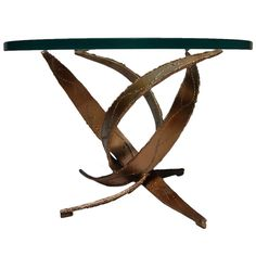 Silas Seandel Brutalist Occasional Table | From a unique collection of antique and modern side tables at http://www.1stdibs.com/furniture/tables/side-tables/