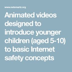 NetSmartzKids: Animated videos to introduce children aged to basic internet safety concepts Cyber Safety, Computer Class, Internet Safety, Digital Citizenship, Board Ideas, Bulletin Board, Animated Gif, Lab, Tech