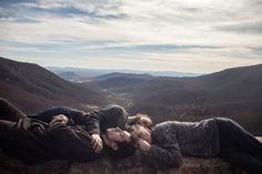 "Honorable Mention, People. ""My brothers and I"" Our road trip down to Miami traversed this outlook on the Blue Ridge Parkway. We rested on this ridge overlooking the mountains. Though we argued consistently throughout the journey, here we were reminded of our brotherhood. (© Tyler Greenfield/National Geographic Photo Contest) #"