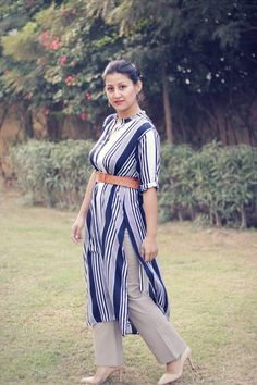 Plaid and Stripes Outfit Idea- streetstyle.  #fashionblogger #girlboss